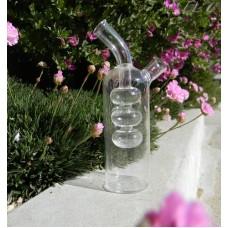 """Glass Cuet 7"""" 2 Chamber Glass Cruet 1.5 oz inner & 6 oz  Outer Chamber"""